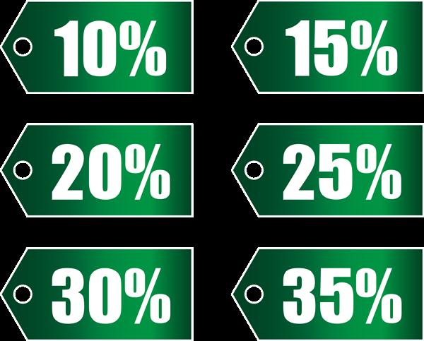 Green Discount Tags Set Part 1 Transparent Png Image Png Images Image Clip Art