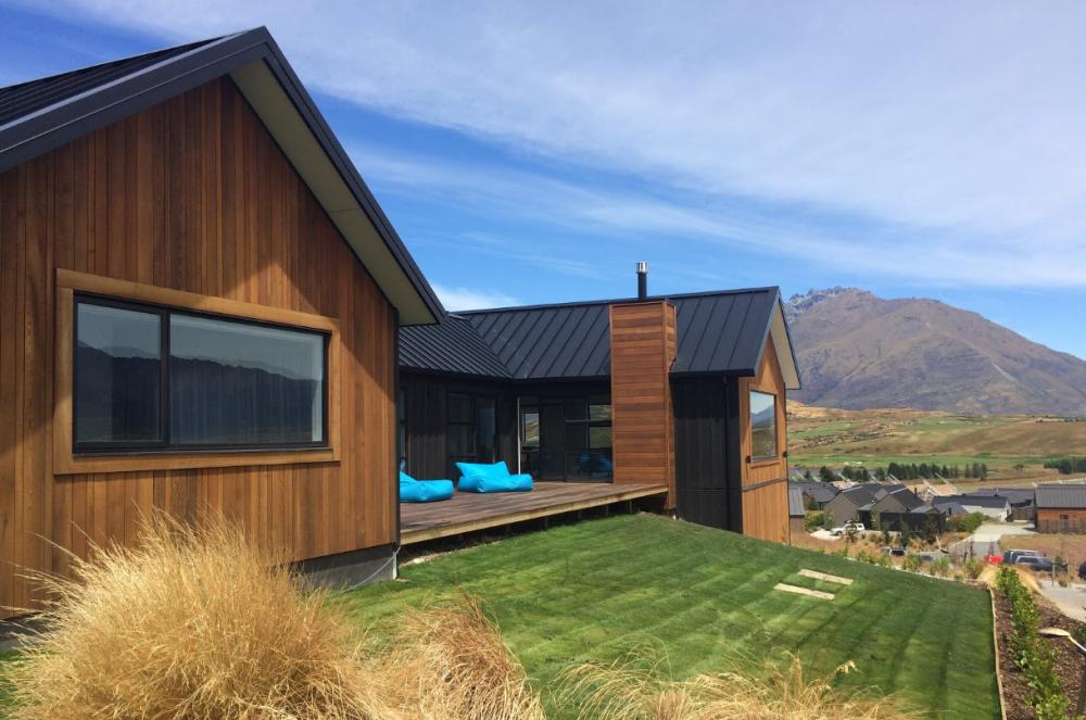 Bespoke Home Architectural House Cedar Corten Steel