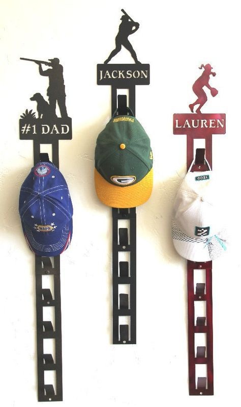 Hat Racks For Baseball Caps Beauteous Personalized Baseball Hat Holder Personalized Baseball Hat Rack Decorating Design