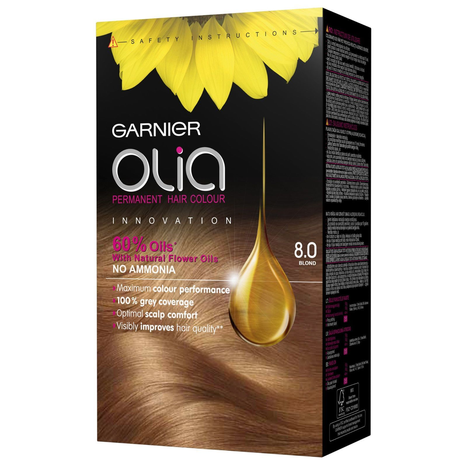 Garnier Olia Permanent Hair Color 8 0 Blonde Ammonia Free Hair Dye