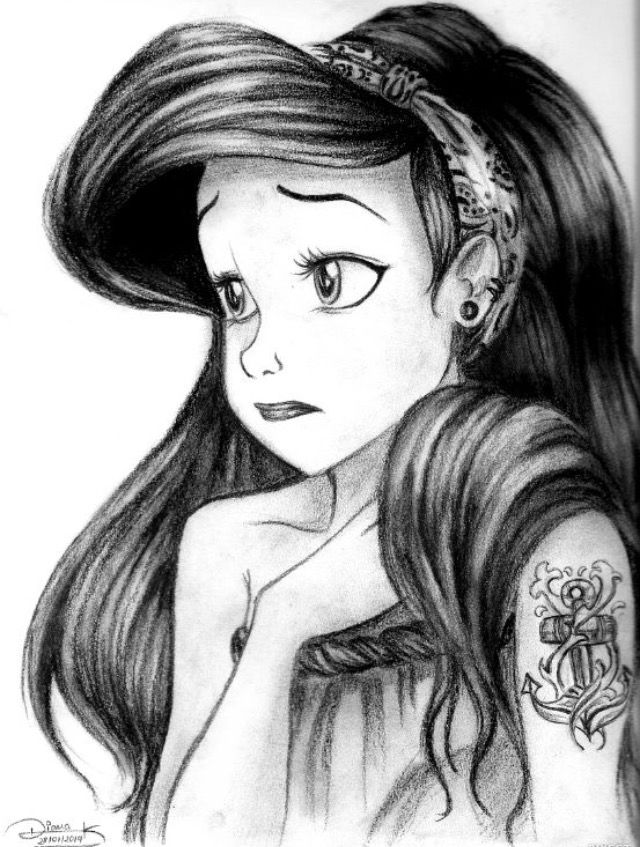 Drawing Ariel Punk | C | Pinterest | Ariel and Punk