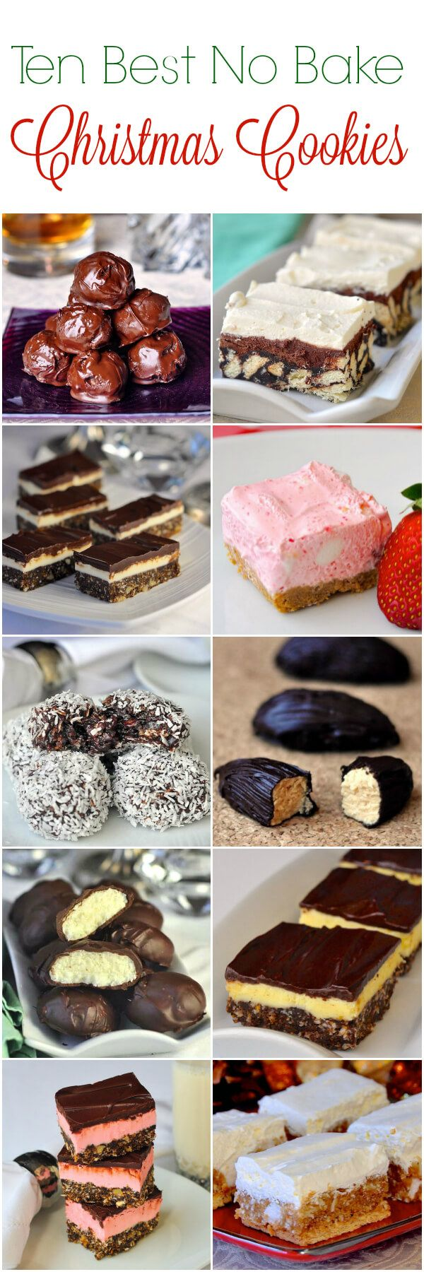 No Bake Christmas Cookies - 15 easy recipes that are freezer ...
