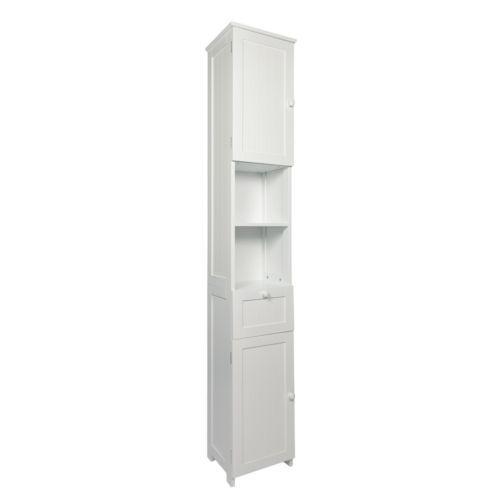 Woodlluv Mdf Slim Shaker Tall Boy Free Standing Bathroom Storage Cabinet Unit W Bathroom Storage Cabinet Bathroom Storage Storage