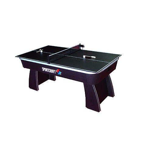 Sportcraft 6 Air Hockey Table With Table Tennis Top Air Hockey