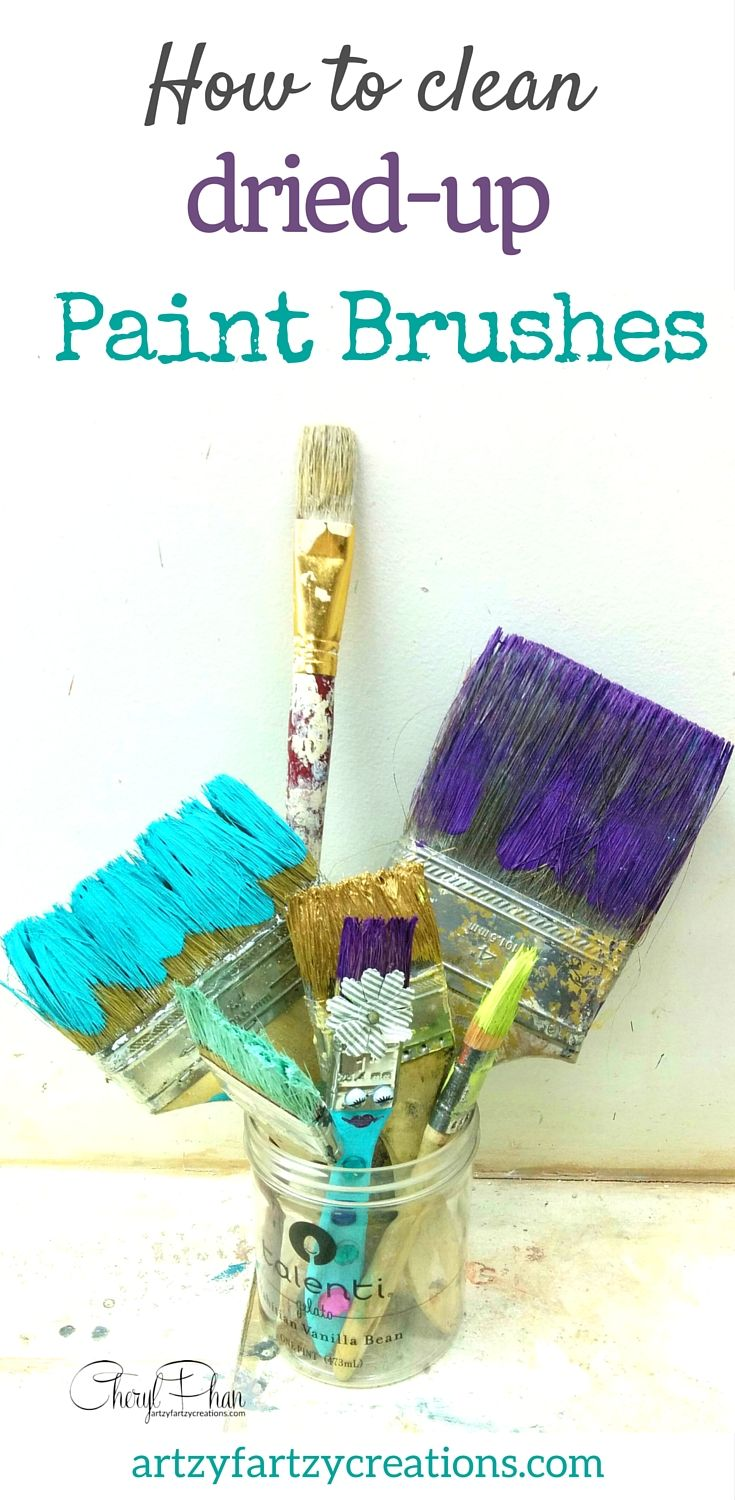 Perfect How To Clean Dried Up Paint Brushes