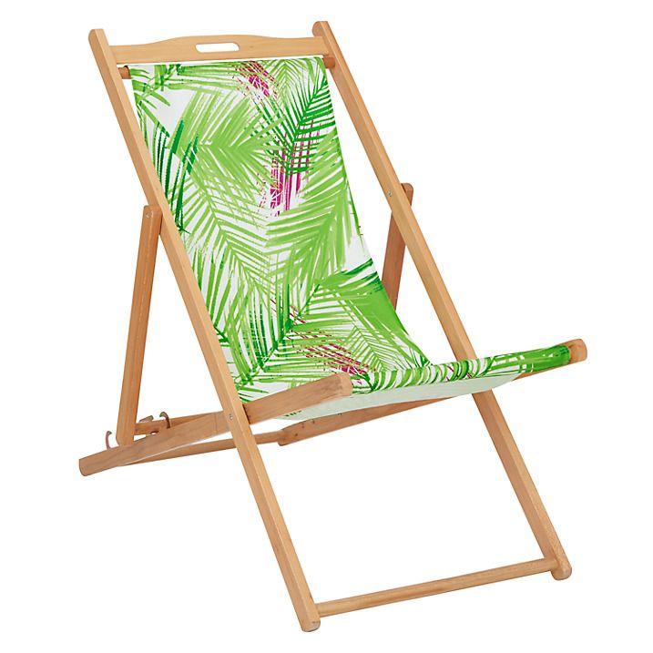Buy John Lewis Scandi Deckchair Sling, Palm Print, Light Leaf U0026 House By  John