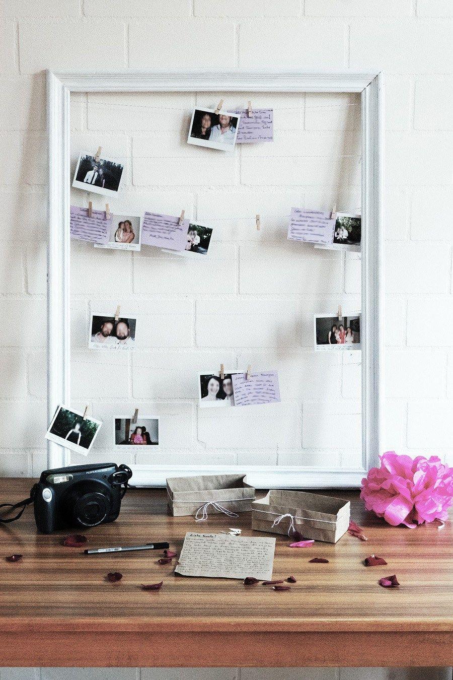 diy hochzeit g stebuch selbst gestalten polaroid vintage flair geburtstag pinterest diy. Black Bedroom Furniture Sets. Home Design Ideas