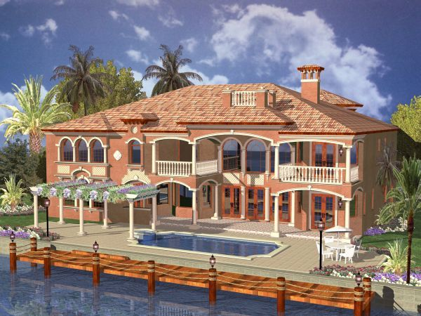 Florida Style House Plans   6664 Square Foot Home   2 Story  6 Bedroom and  6 Bath  3 Garage Stalls by Monster House Plans   Plan. Florida Style House Plans   6679 Square Foot Home   2 Story  5