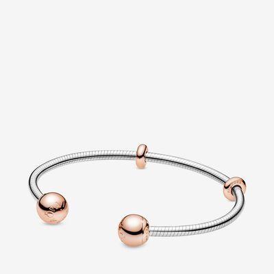 Bracelet Jonc Ouvert Façon Maille Serpent Pandora Moments ...