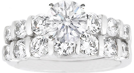 #mdcdiamonds.com          #ring                     #Engagement #Ring #Round #Diamond #Bridal #0.90 #tcw. #White #Gold #ES575BS   Engagement Ring - Round Diamond Bar Set Bridal Set 0.90 tcw. In 14K White Gold - ES575BS                                          http://www.seapai.com/product.aspx?PID=827097