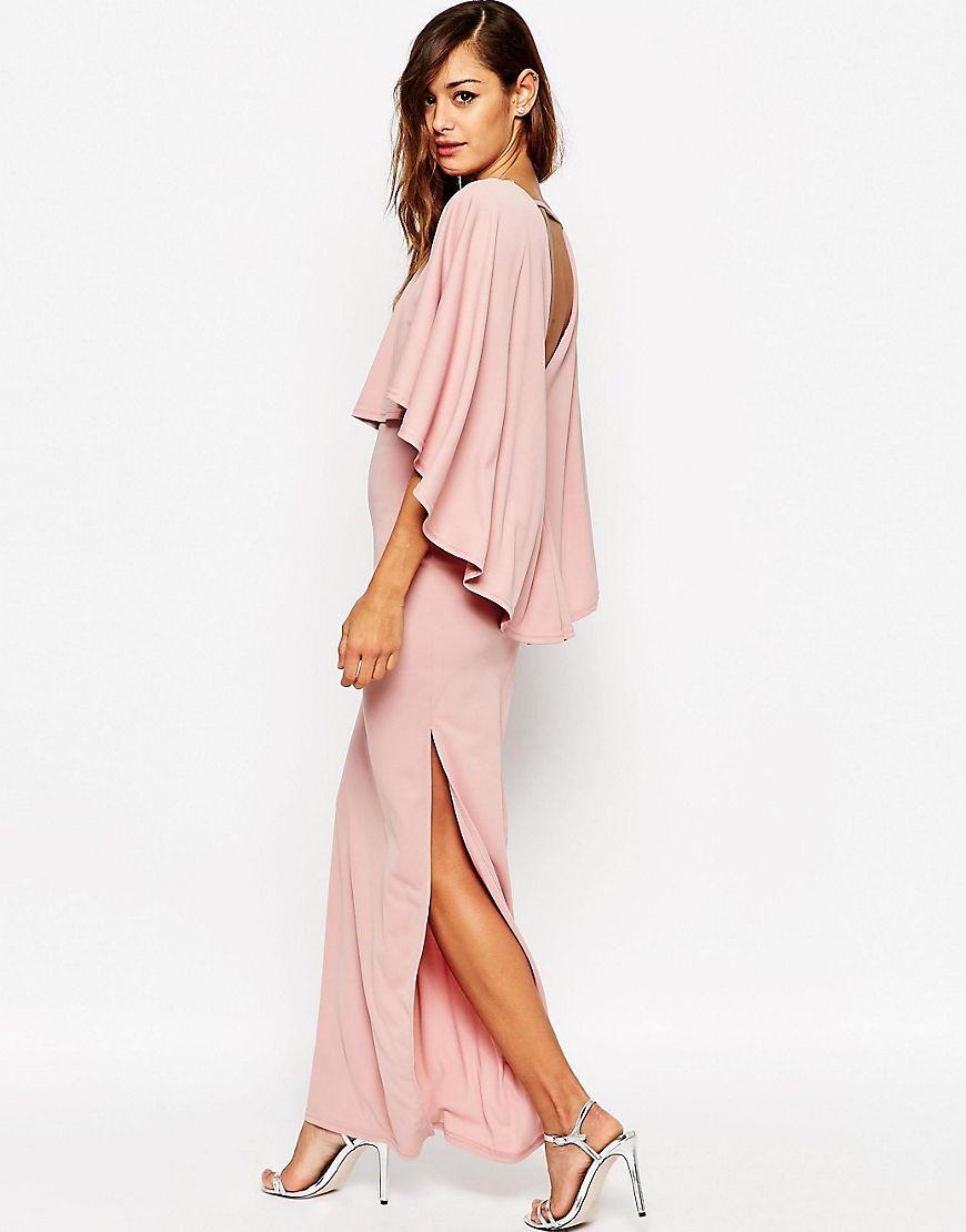 Vestido largo tipo capa extremo de | Vestido largo, Capilla y Vestiditos