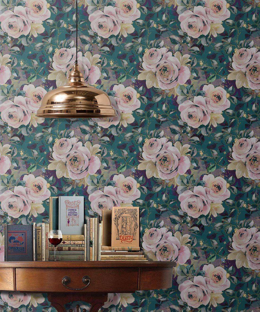 English Roses Elegant Floral Designer Wallpaper Milton King Rose Wallpaper English Wallpaper Designer Wallpaper