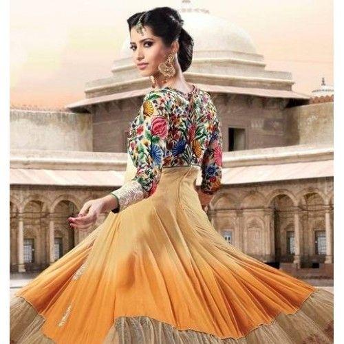 $139.99 Gherdar Multicolor Salwar Kameez