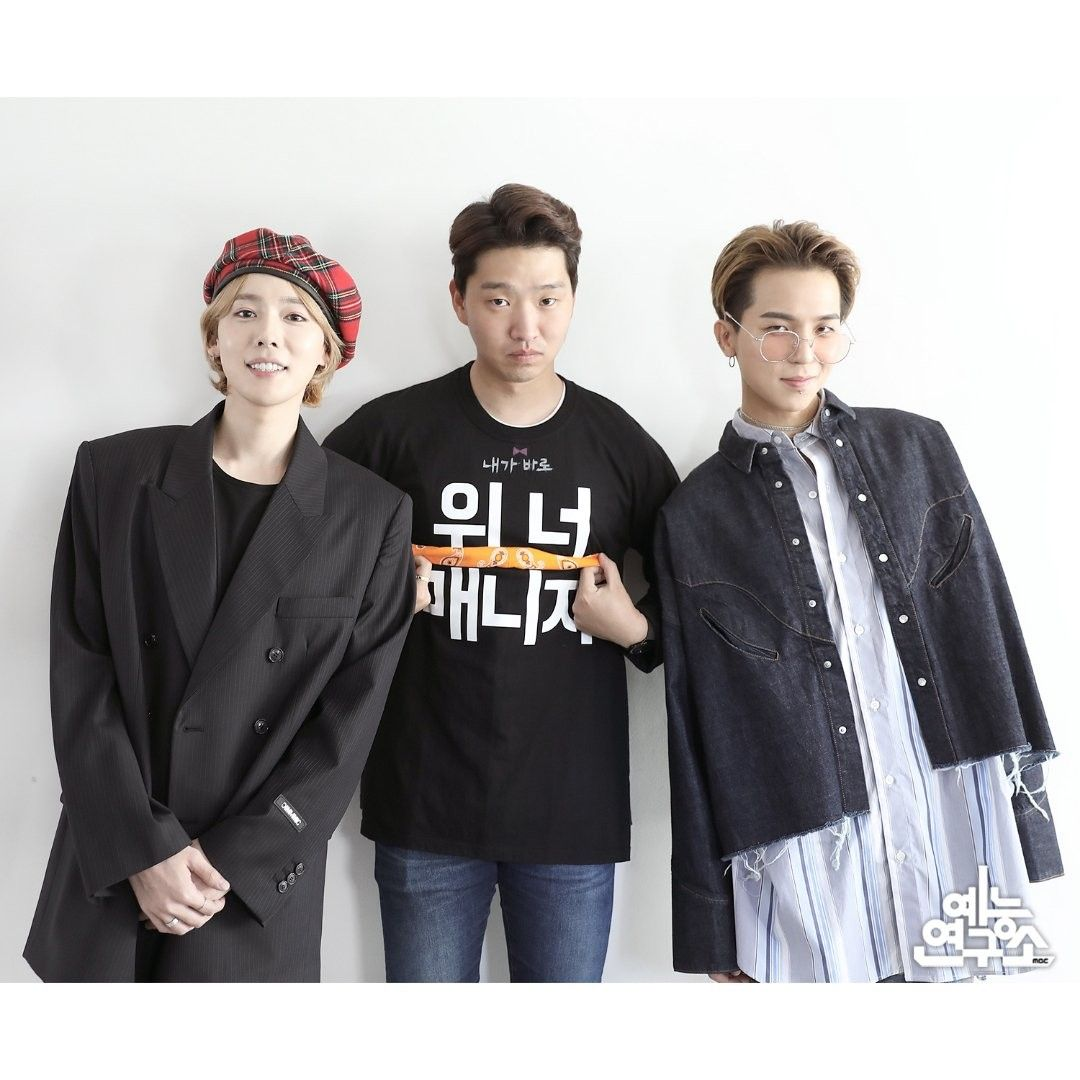 The Manager Ep 26 Jinu And Mino With Simon Manager Winner Winner Yg Varsity Jacket Winner Jinwoo