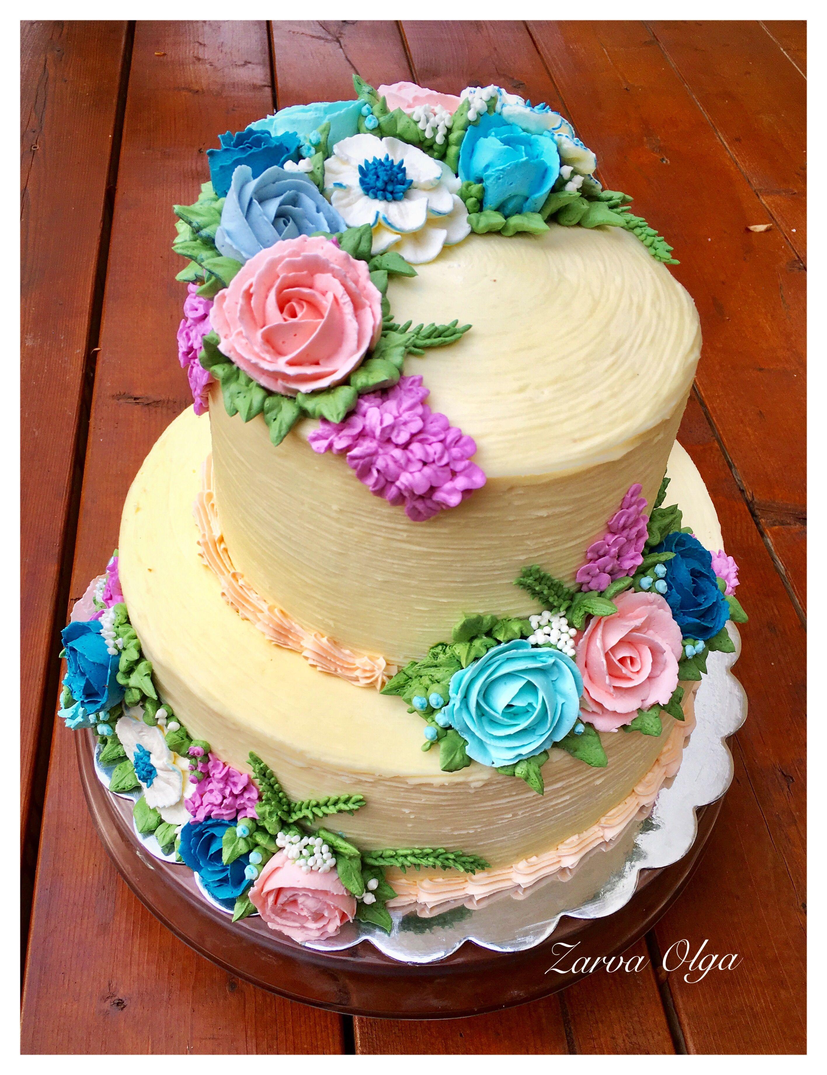 Buttercream cakes, no fondant, no gum paste | Buttercream cakes ...