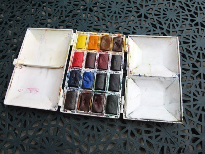 Frank Herring Palette New Compact Palette Watercolor Pallet