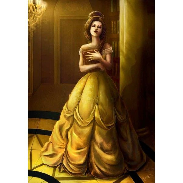 Belle Beauty and the Beast ❤ liked on Polyvore featuring disney, beauty and the beast, backgrounds, drawings and pictures