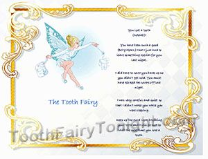 free downloadable messages from the toothfairy