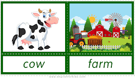 English For Kids Step By Step Printable Flashcards Animal Homes Part 1 Printable Flash Cards Farm Animals For Kids Farm Animals Preschool