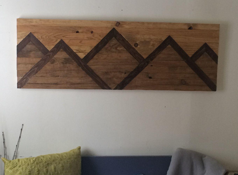 This Mountain Range wood wall art piece