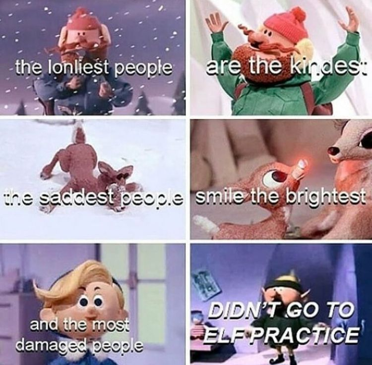 """OMG! """"and the most damaged people, DIDN'T GO TO ELF PRACTICE!"""" I DIED LAUGING AT THAT!"""