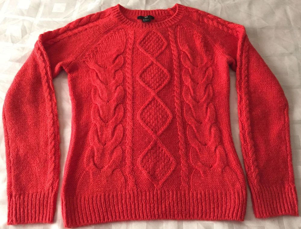 b57bdbbe04f Details about H&M Women's Size Small Orange Knit Sweater | Stuff to ...