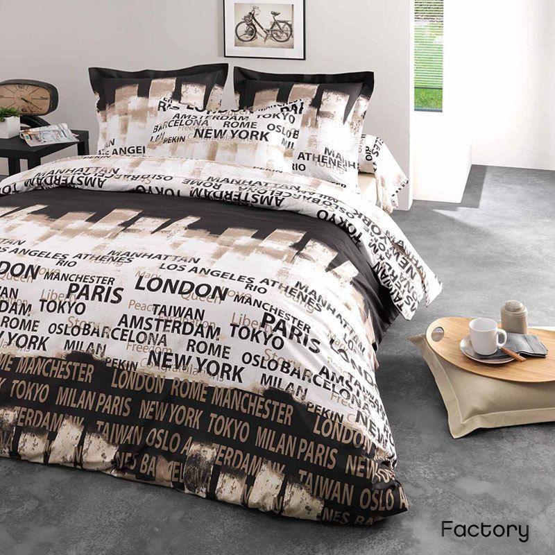 vente de linge de lit Parure de lit 200x200 cm FACTORY | Linnea vente de linge de maison  vente de linge de lit