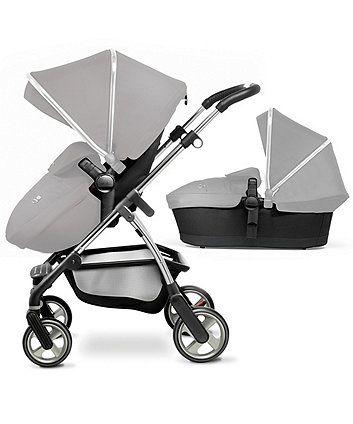 Silver Cross Wayfarer Pioneer Hood /& Apron Pack For Pram Pushchair Chrome Black