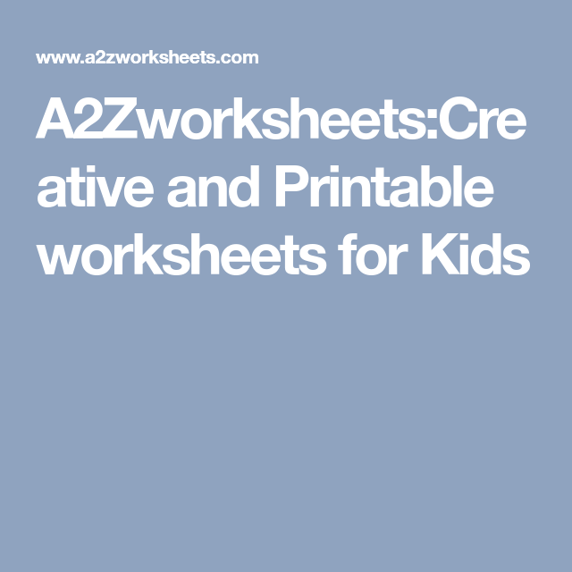 A2Zworksheets:Creative and Printable worksheets for Kids   Paragraph ...
