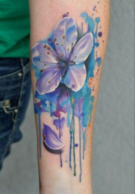 Flor Azul Tatoo Tatoos Pinterest Orquideas Tatuaje Tatuajes Y