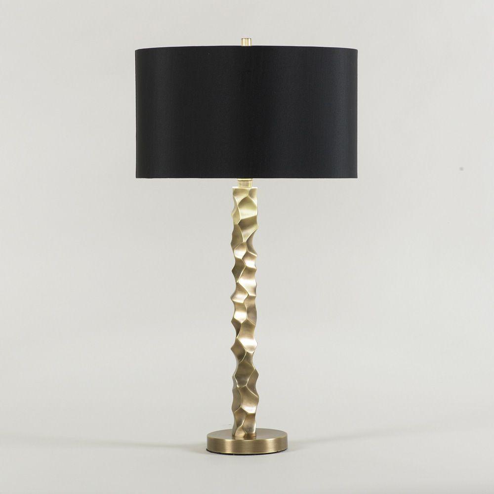 black shade and gold base table lamp in stock lighting pinterest. Black Bedroom Furniture Sets. Home Design Ideas