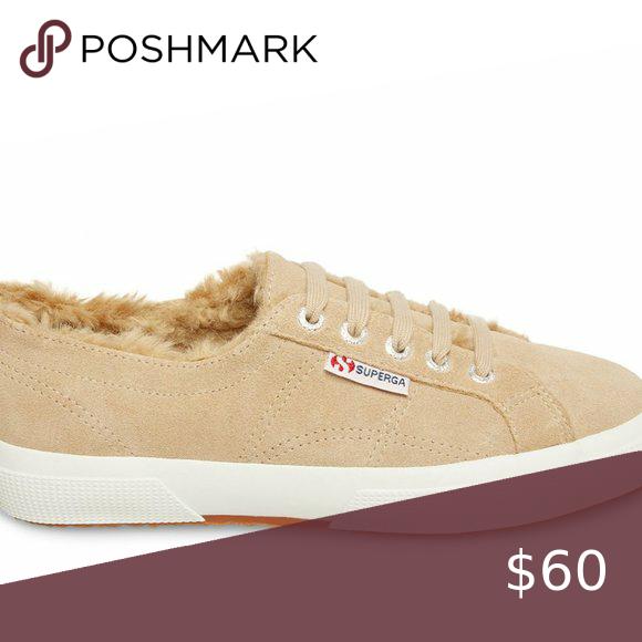 2759 Fur Lined Sneaker Beige Suede