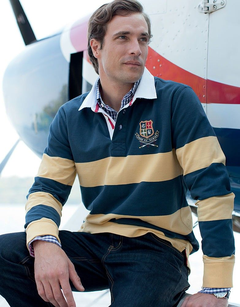 Smarten it up by layering with your rugby with a long-sleeve shirt - Boulston Rugby from Crew Clothing Co.