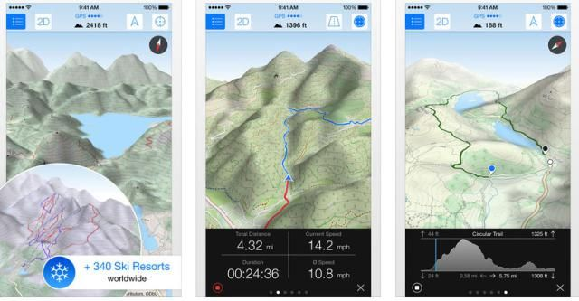 Review Maps 3D Pro App for Offline Use Map, Hiking, App