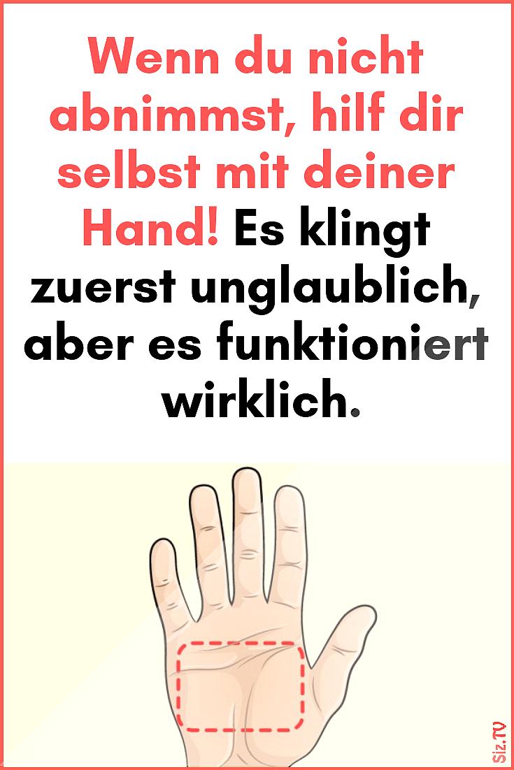 Wenn du nicht abnimmst hilf dir selbst mit deiner Hand Es klingt zuerst unglaublich aber es funktion...