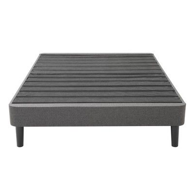 Twin Xl Upholstered Platform Bed Frame With Legs Jubilee Mattress Gray In 2020 Platform Bed Frame Folding Bed