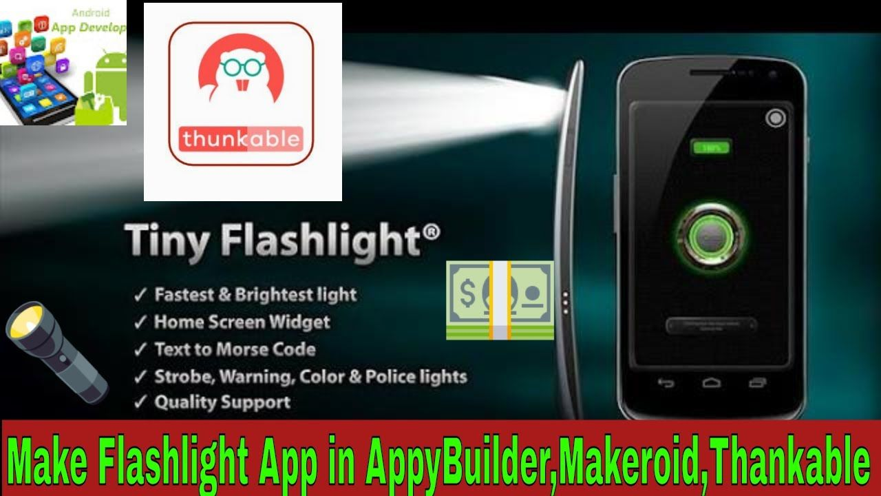 How To Make FlashLight App With Sos Function In Thunkable