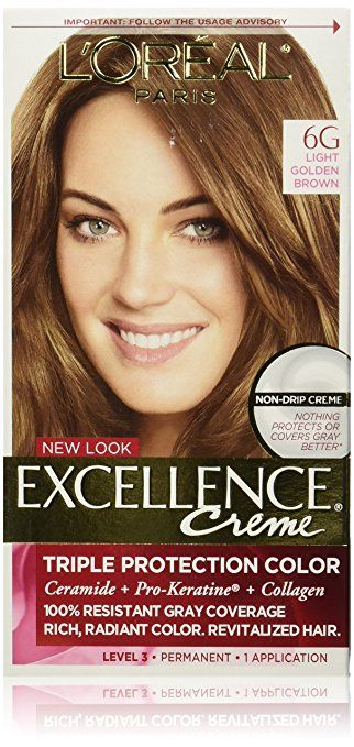 L Oreal Paris Excellence Creme 6g Light Golden Brown Packaging May Vary Light Golden Brown Hair Color Grey Hair Coverage Light Hair Color