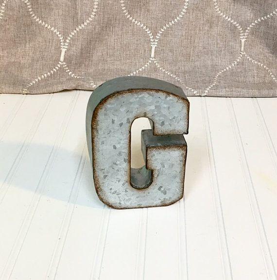 7 Inch Metal Letters Metal Letter G Metal Letters 7 Inchtheshabbystore On Etsy