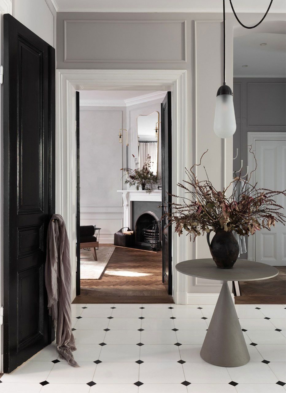 Inside a sophisticated and classically beautiful home that defines the concept of livable luxe nordicdesign