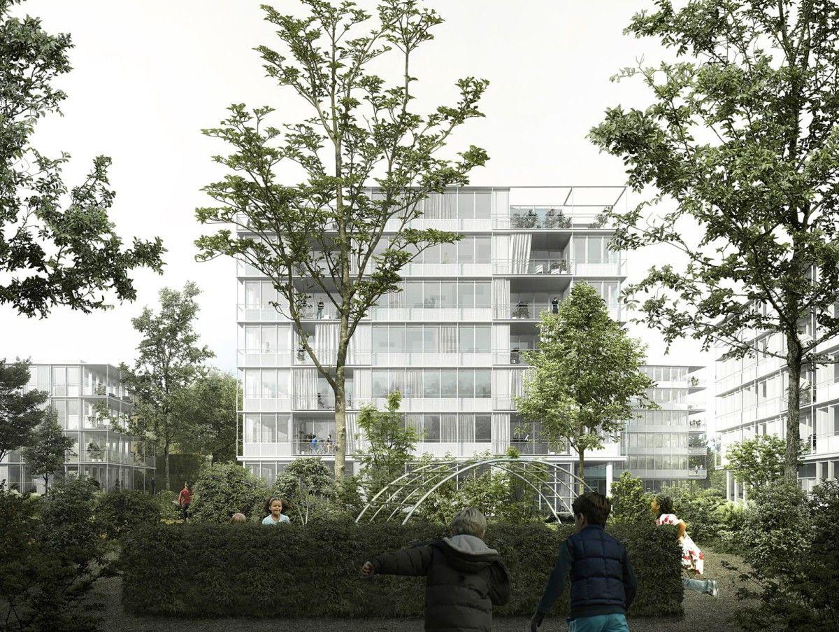 Pflegeheim innenarchitektur emn  tannenrauchstrasse replacement housing development  zurich