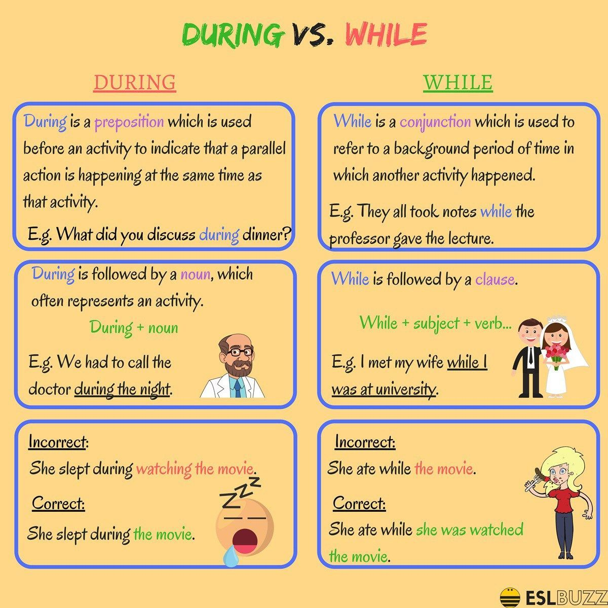 What Is The Difference Between During And While