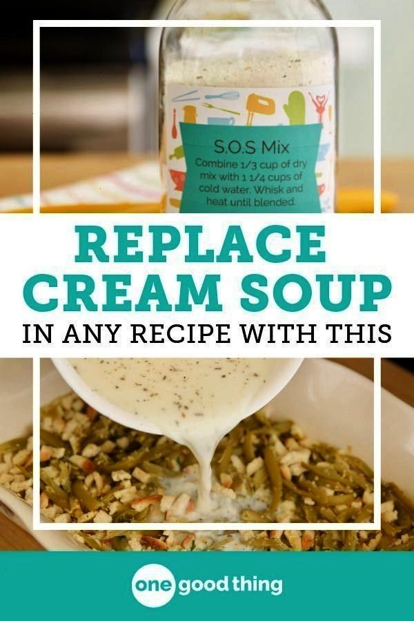 The Most Useful Thing You Can Keep In Your Pantry Ever heard of SOS Mix This handy cream soup base can be used as a substitute for cream soup in all your favorite recipes...