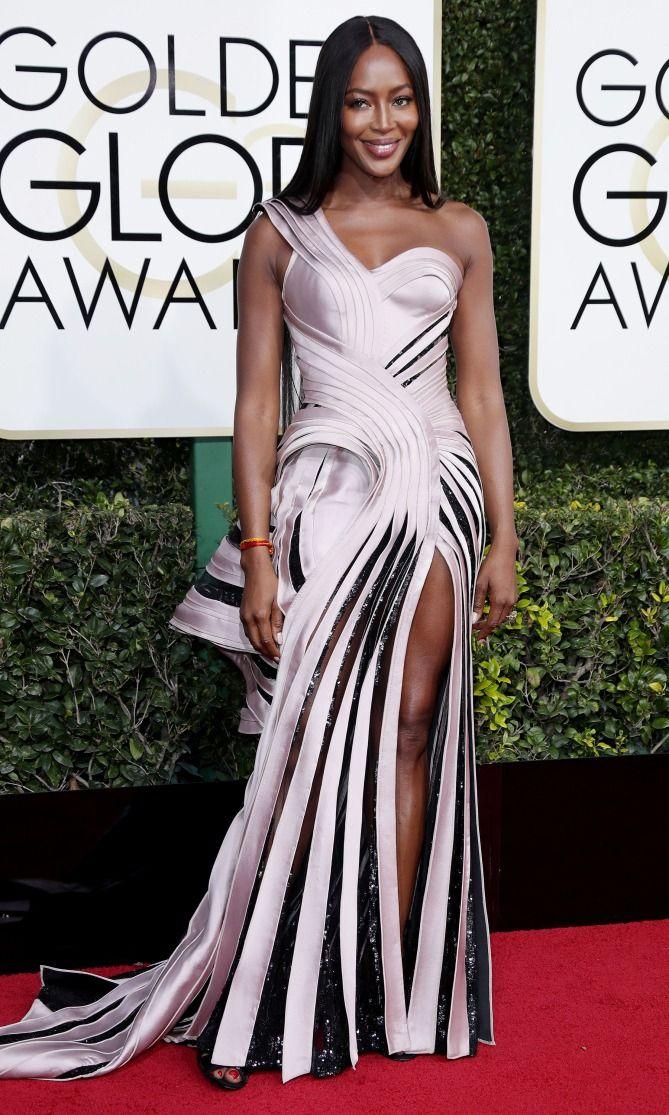 Golden Globes 2017 Best Dresses Naomi Campbell In Atelier Versace