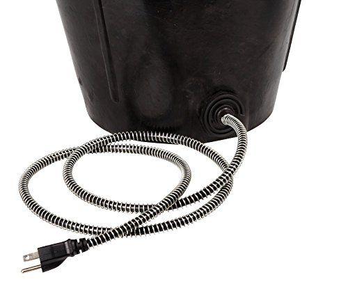 Amazon.com: Farm Innovators Model FB-80-R Rubber 3-Gallon Flat-Back Heated Bucket, 80-Watt: Pet Supplies