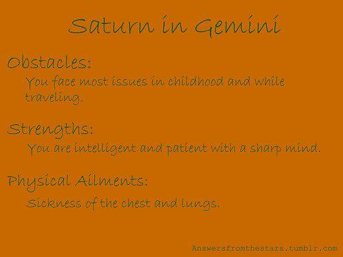 Saturn Gemini