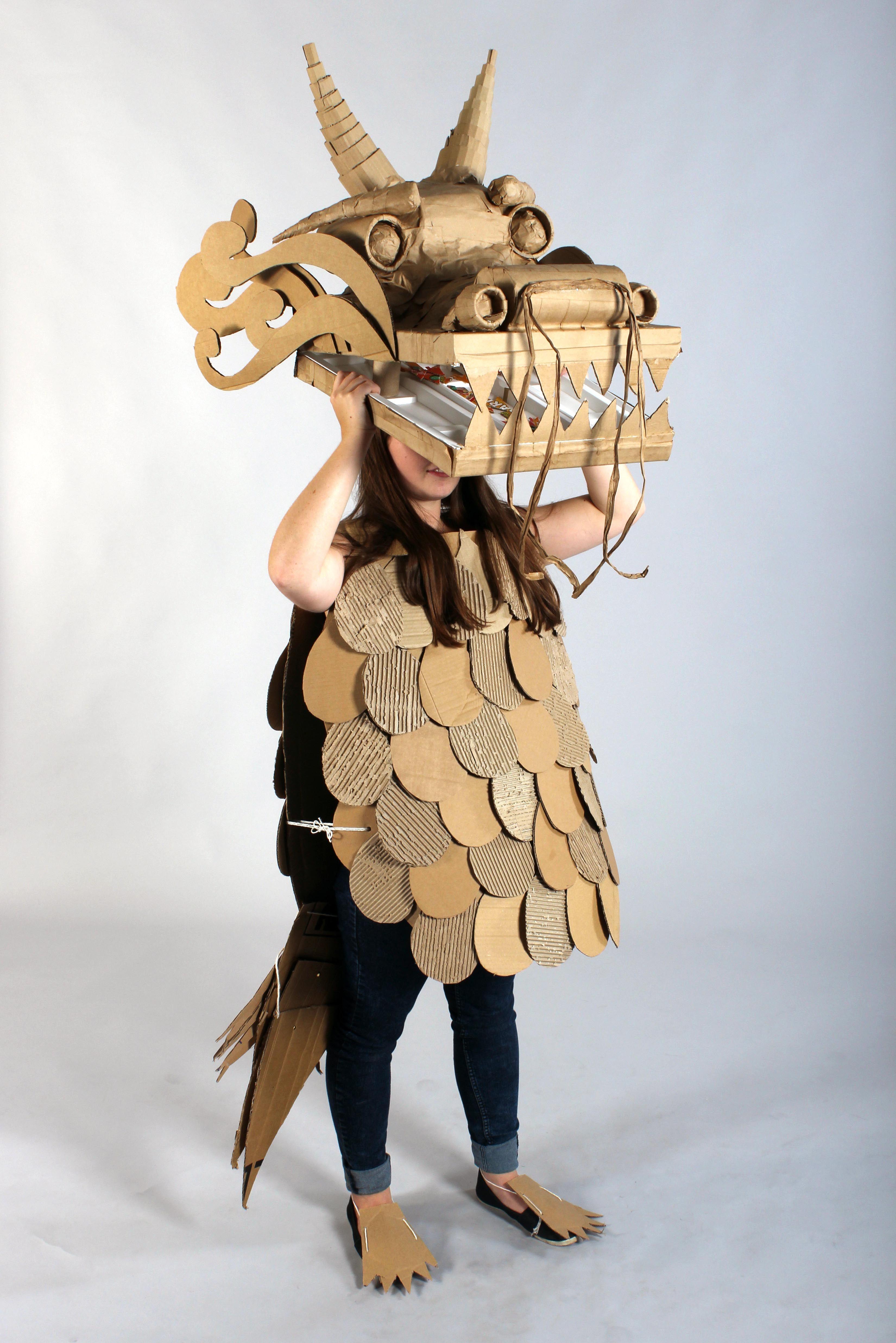 Strode College - Somerset UK Cardboard Catwalk 2014 Chinese Dragon