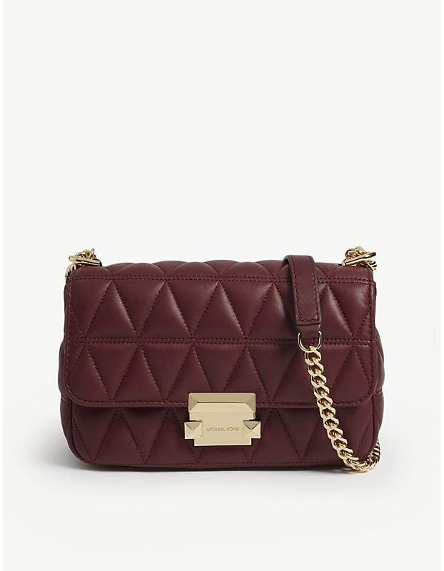 aee2393315d7 MICHAEL MICHAEL KORS Sloan small quilted leather cross-body bag in ...