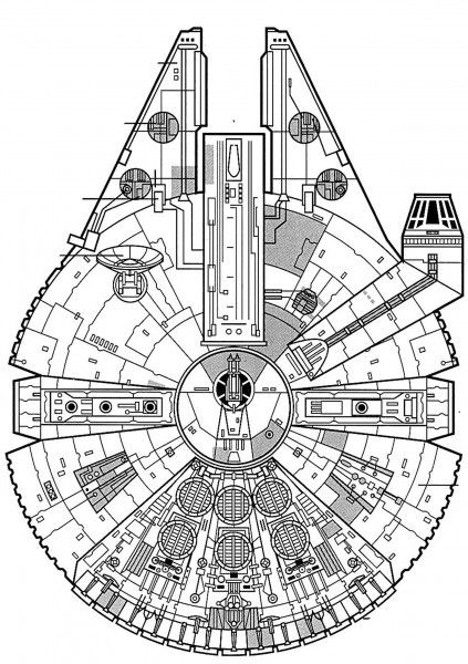 Millenium Falcon Plan View