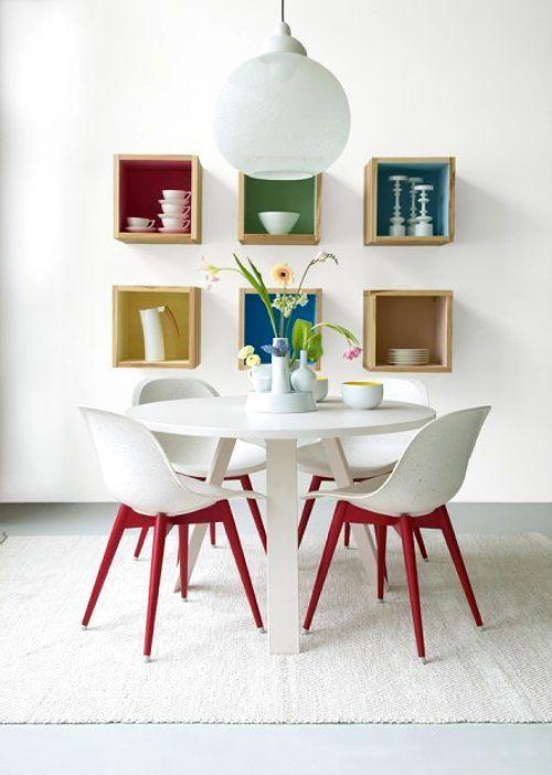 Comedores originales y coloridos #decoracion #comedor #salon #color ...
